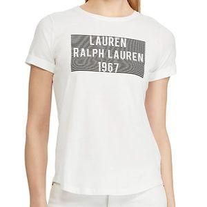 NWT Ralph Lauren Logo Cotton Graphic Tee T-Shirt